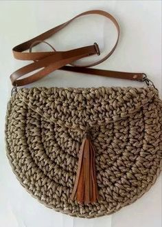 Tunisian Crochet: How to Knit a Circle We want to thank . Tunisian Crochet: How to Knit a Circle We want to thank you if you . - # Crochet Always . Crochet Handbags, Crochet Purses, Crochet Clutch, Crochet Bags, Knitting Patterns, Sewing Patterns, Crochet Patterns, Purse Patterns, Crochet Ideas