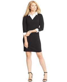 Lauren Ralph Lauren Plus Size Layered Sweater Dress