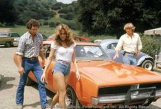 The 1969 Dodge Charger stock car in The Dukes of Hazzard. Not for sale at Hughes Motor Products - Just lovin' these great Classic Trucks, Classic Cars, General Lee Car, Bo Duke, Daisy Duke Shorts, Dukes Of Hazard, Catherine Bach, 1969 Dodge Charger, Daisy Dukes