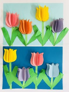 Easter Crafts For Kids, Craft Activities For Kids, Diy For Kids, Fun Arts And Crafts, Diy And Crafts, Paper Crafts, Diy Flowers, Paper Flowers, Spring Art