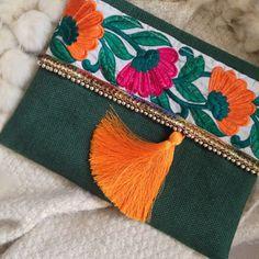Green Floral Clutch, Bohemian Clutch, Boho Bag, Fashion Bag, Womens handbag, gift for her, Clutch purse, Ethnic Clutch, Mothers Day gift by BOHOCHICBYDAMLA on Etsy