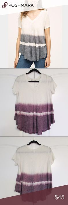 Anthropologie dip dye tee NWT adorable tie dye swing top. Great quality and very flattering! Anthropologie Tops