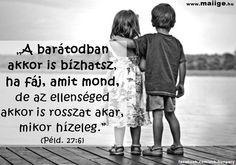Bibliai idézet a barát és az ellenség különbözőségéről. A kép forrása: Mai Ige # Facebook