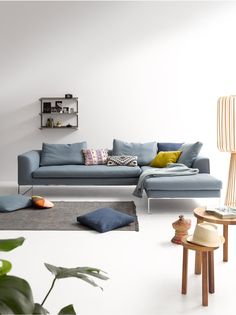 Mell Lounge Sofa: COR - Home Accents living room Sofa Furniture, Sofa, Furniture, Chaise Lounge Living Room, Living Room Designs, Comfortable Couch, Sofa Colors, Living Room Furniture, Lounge Sofa