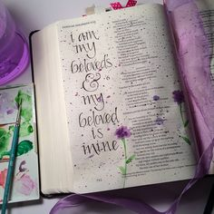 Song of Solomon 6:3 #biblejournaling #biblejournalingcommunity #illustratedfaith…