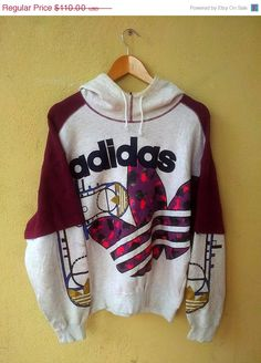 SALE Vintage Adidas Run DMC Big Logo Sweater Hooded Hip Hop Sweatshirt Jacket Swag from I'm selling a huge fashion branded and vintage. Hipster Outfits, Lazy Day Outfits, Fashion Outfits, Adidas Vintage, Adidas Retro, Mens Fashion Sweaters, Sweater Fashion, Fresh Prince, Grunge Style Jeans