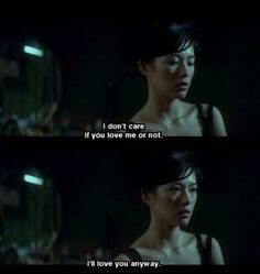 "LOVE HURTS: ""I don't care if you love me or not. I'll love anyway."" - FILM 2046 (2004) by Wong Kar Wai"