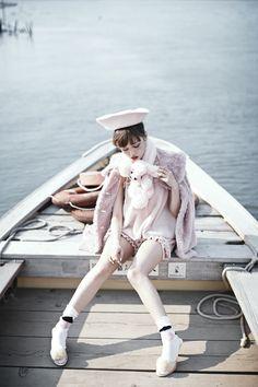 """hermysteriousbusiness: """" Risa Nakamura wearing Katie (source: katie.jp) """""""