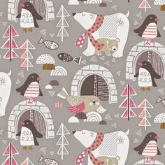 pinguins and polar bear pattern