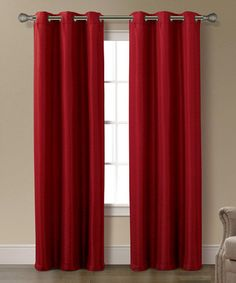 Loving this Light Burgundy Lawrence Jacquard Window Panel - Set of Two on #zulily! #zulilyfinds