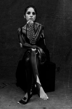 Exoskeleton Project Yusk 2009. by Yuske Imai, via Behance #girl #bodyart #blackwork
