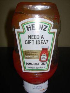 Custom ketchup.