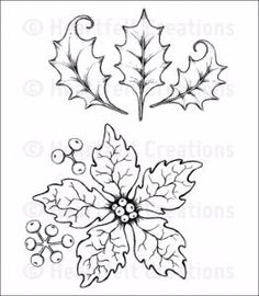 Pre Order Heartfelt Creations Large Sparkling Poinsettia Cling Stamp Set