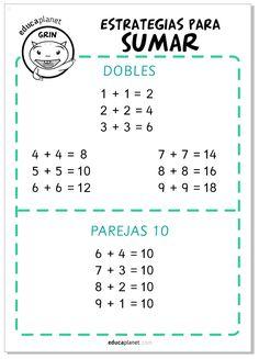Poster suma recursos educativos matemáticas