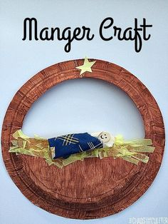 This manger craft for kids is perfect for Christmas or a Sunday School activity. Preschool Christmas Crafts, Christmas Activities For Kids, Nativity Crafts, Kids Christmas, Kids Crafts, Kindergarten Christmas, Christmas Games, Winter Activities, Outdoor Christmas