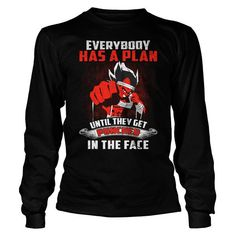 Super Saiyan - Everybody has a plan until they get punched in the face -Unisex Long Sleeve - SSID2016
