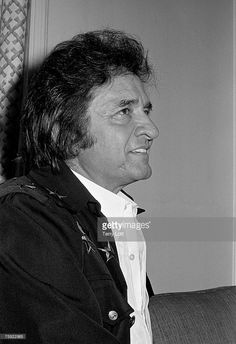 Johnny Cash with at Wembley Conference Centre, London