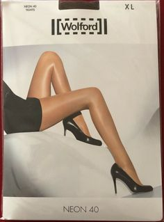 e40c855fb5e Wolford Neon 40 Shimmer High Gloss Tights pantyhose Extra Large Aztec   fashion  clothing