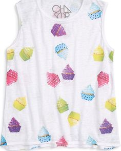 Chaser Flouncy Tank- 'Cupcake Party'