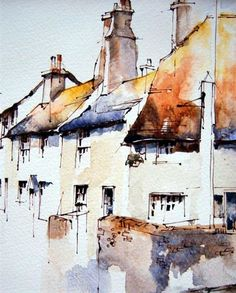 Bosham, West Sussex, UK, by Jeanette Clarke - Line and wash painting of The Blue Anchor at Bosham. Pen And Watercolor, Watercolor Landscape, Watercolor Paintings, Watercolors, Art Paintings, Urban Landscape, Landscape Art, Landscape Paintings, Landscapes