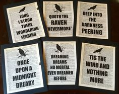 Edgar Allen Poe The Raven Dictionary Art Quote by CheerfulEvents