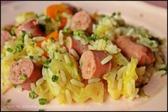 Arroz de legumes com salsichas frescas  ♥♥♥ - http://gostinhos.com/arroz-de-legumes-com-salsichas-frescas-%e2%99%a5%e2%99%a5%e2%99%a5/
