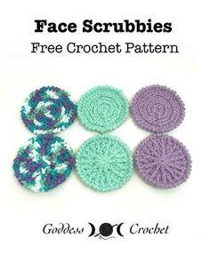 Bastelanleitungen Face Scrubbies – Free Crochet Pattern from Goddess )O( Crochet Bridal Fashion Jewe Crochet Faces, Crochet Round, Crochet Gifts, Free Crochet, Simple Crochet, Modern Crochet, Crochet Things, Irish Crochet, Scrubbies Crochet Pattern