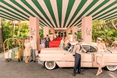 Gray Malin recently recreated a classic series of photos at The Beverly Hills Hotel which came out splendidly. The recreation of the photos are similar to a classic Cadillac advertisement from 1957 (below). Please take a moment to enjoy these images!
