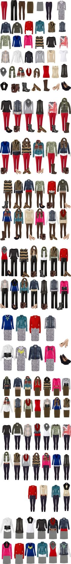 """Capsule Wardrobe -- Fall/Winter"" by cocogolightly on Polyvore - having a few versatile, much-loved pieces to mix and match creates a small yet stylish wardrobe w/numerous options for almost every occasion/setting, which means you can spend more on better quality (I really need to cull my closet, blah)"