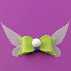 Tinkerbell Hair Bow - Spiffing Jewelry