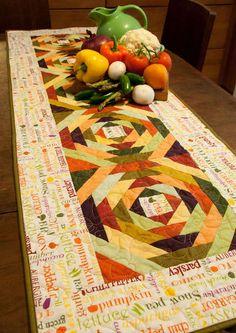 Eat Your Veggies Table Runner | The Hen House