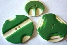 Art Deco Galalith Buttons