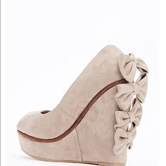 Back Bow Wedge Shoes Feminine and pretty. New with tags! Shoes Wedges