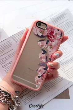 Pretty #pink flowers. Click through to see more floral iPhone 6 phonecase designs >>> https://www.casetify.com/artworks/PlUBdEgmHS | @casetify #iphone6cases,