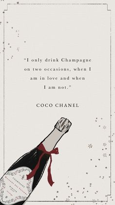 An illustration to promote our Christmas 2020 champagne competition. Click to enter! #Champagne #Christmascompetition #CocoChanel