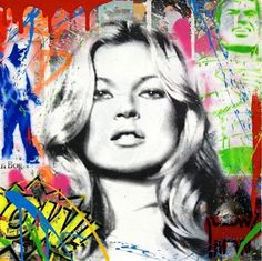 Kate Moss (small) by Mr. Brainwash