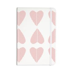 "Belinda Gilles ""Cross My Heart Multiple"" Red Pattern Everything Notebook"