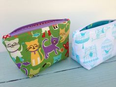 "I am excited to share the pattern for my ""Favorite Zipper Pouch"".  I love my fabrics from xo.gigi fabrics!   I needed a few gifts and whipped up some zipper pouches.  I h…"