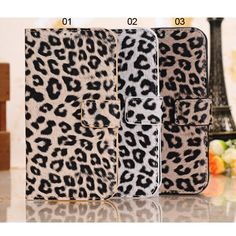 Leopard Pattern Horizontal Flip Leather Case for Samsung GALAXY S4 i9500 with Card Holder - Samsung Galaxy S4 i9500 Cases - Samsung Cases