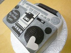 Specialty Cakes Gallery « Sweet & Saucy Shop Music Themed Cakes, Music Cakes, Birthday Sheet Cakes, 40th Birthday Cakes, Cupcake Cakes, Cupcakes, Adult Party Themes, 80s Theme, Decadent Cakes