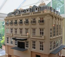 Bespoke grand 1920s dolls house hotel.(Anglia Dolls' Houses. Beautiful workmanship, style and detail.   .....Rick Maccione-Dollhouse Builder www.dollhousemansions.com