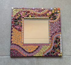 Mosaic Mirrors, Mosaic Art, Mosaic Glass, Stained Glass, Photo Mosaic, Picture Frames, Diy And Crafts, Deco, Pictures