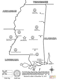 mississippi coloring pages to print - Google Search