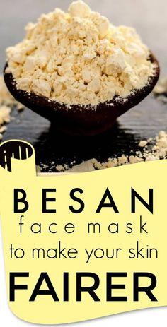 Besan face masks to make your skin fairer #skin #skincare #beauty #diybeauty #skinwhitening #beautiful #tips