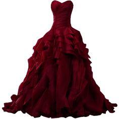 El vestido rojo.