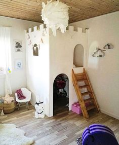 Perfect Hide-Aways for Kids' Rooms - beds under sloping ceiling in attic, cool loftbeds, architect's hide-ins for kids, canopy, teepee. Cosy Corner, Kidsroom, Kids Bedroom, Toddler Bed, Future Children, Furniture, Followers, Bedrooms, Victoria