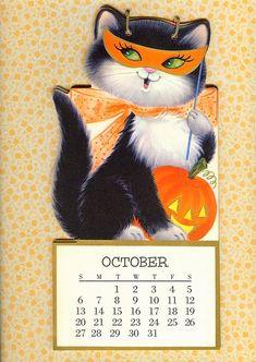 Vintage Halloween Images, Retro Halloween, Halloween Pictures, Halloween Signs, Vintage Holiday, Holidays Halloween, Spooky Halloween, Halloween Crafts, Happy Halloween