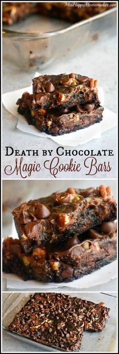 Death by Chocolate Magic Cookie Bars - only 5 INGREDIENTS!!!! These are sooooo good!!!