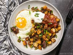 """This simple but tasty Chorizo Breakfast Hash is a breakfast classic. Perfect for your lazy weekend brunch, or even """"breakfast for dinner""""."""