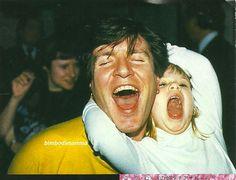 Aaaaaw, Uncle Simon :) Simon Le Bon and Tatjana Rhodes (Nick Rhodes's daughter)